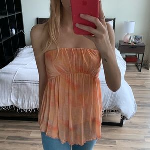 Free People Orange Tube Top
